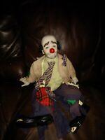 "Emmett Kelly ""Weary Willie"" Clown - Porcelain Doll Dynasty Doll 19 Inch tall"