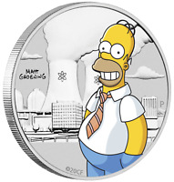 IN STOCK 2020 Homer Simpson COLORED 1/2oz Half Dollar Silver .9999 Dollar Coin