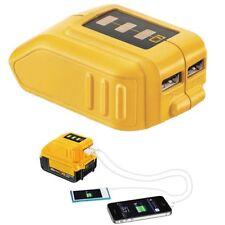 USB Charging Converter DCB090 Adapter Charger for DEWALT DCB205 204 BATTERY