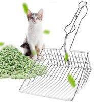 Mascota Gato Arenero Caja Pala Excavadora Colador Metal No Barra Limpieza Tool