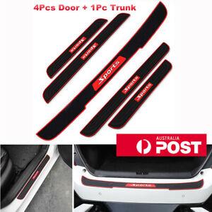 1Set Car Door Scuff Sill Cover Rear Trunk Bumper Pad Panel Step Rubber Protector