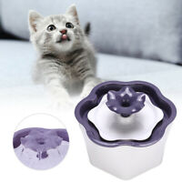 2L Pet Drinking Water Fountain Electric Cat Dog Automatic Bowl Filter Purple tm