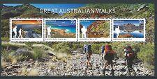 AUSTRALIE 2015 GRANDE WALKS BLOC-FEUILLET NON MONTÉS EXCELLENT ÉTAT, MNH