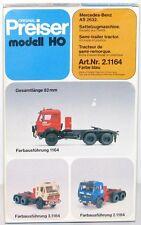 Preiser H0 2.1164 Mercedes-Benz AS 2632 Autoarticolato blu - NUOVO + conf. orig.