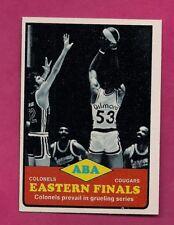 1973-74 TOPPS # 207 ABA COLONELS VS COUGARS FINALS NRMT-MT CARD (INV# A7681)