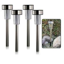Stainless Steel Garden Solar Marker Lights - Set of 4