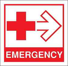 Health and Safety Fire Sticker Sign Emergency Red Cross First aid Sticker