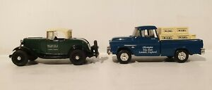 CARS : 1932 FORD A ROADSTER & CHEVROLET PICK UP TRUCK TOY FAIR EXCLUSIVE MODELS