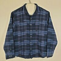 Tommy Bahama Mens Large Button Up Shirt Long Sleeve 100% Cotton Blue
