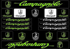 Campagnolo Bike Bicycle Frame Decals Stickers Graphic Adhesive Set Vinyl Green