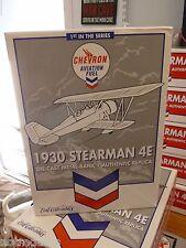 NEW LOWER PRICE! 1st IN THE SERIES CHEVRON - 1930 STEARMAN 4E DIECAST AIRPLANE