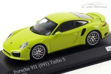 1:43 MINICHAMPS 2013 PORSCHE 911 (991) Turbo S yellow green LE 200 cartima Excl.