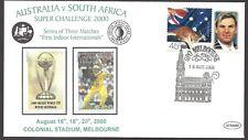 AUSTRALIA v SOUTH AFRICA 2000 International CRICKET ODI Series Souvenir Cover