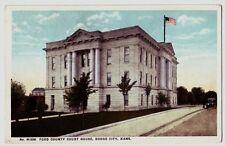1910 DODGE CITY Kansas Postcard KS FORD COUNTY COURT HOUSE