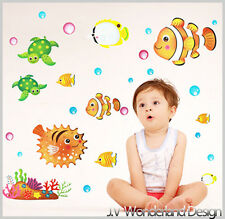 New Nemo Wall Stickers sea world kids baby removable Vinyl Art Decor fish Large