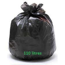 Sac poubelle BD noir 110 L superlene 45 mic - Carton de 200 sacs 110 litres