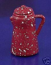 Miniature Dollhouse Red Spatterware Pitcher 1:12 Scale New