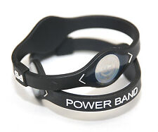 (2pcs) Small BLACK Power Band  Ion Hologram Bracelet - Ships From USA