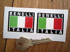 BENELLI ITALIA Tricolore Style Stickers 50mm Pair Motorcycle Helmet Moto Rad