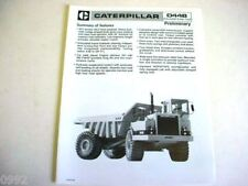 Caterpillar D44B Articulated Dump Truck Brochure