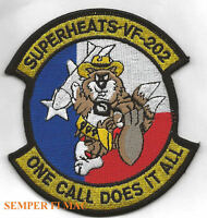 VF-202 SUPERHEATS F-14 TOMCAT PATCH US NAVY USS NAS PIN UP SQUADRON WING WOW