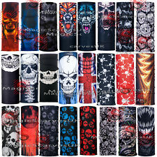 Multi use Skulls Biker Balaclava Neck Tube Snood Scarf Face Mask Warmer Bandana