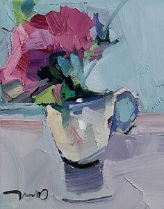 JOSE TRUJILLO Oil Painting IMPRESSIONISM CONTEMPORARY MODERN STILL LIFE ART