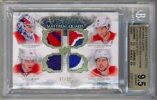 2015-16 Exquisite Kuznetsov Holtby Carlson Backstrom Quad Patch /25 BGS 9.5 CAPS