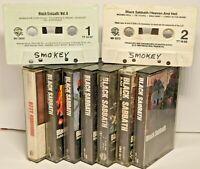 9 Cassette Tape Bundle - Black Sabbath & Ozzy Osborne Collection Various Titles