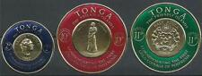 Tonga 1963 Sc# C1-2 airmail Queen Salote Polynesia gold coins Coat of arm MNH