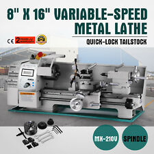 "8"" x 16""Variable-Speed Mini Metal Lathe Processing Digital RPM Steady Rest"