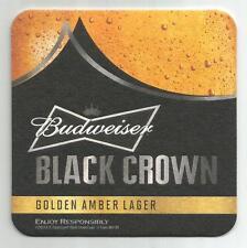 16 Budweiser Black Crown   Beer Coasters  Discover Black Crown