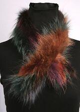 2024 Pelzschal aus Waschbärfellen in Multicolour Echt Fell Waschbär Schal Boa