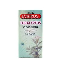 EVRIPOS FROM GREECE GREEK EUCALYPTUS (PACKET 20 BAGS) EFKALIPTOS