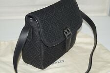 Authentic BALLY Monogram Coffee Canvas & Leather Bag