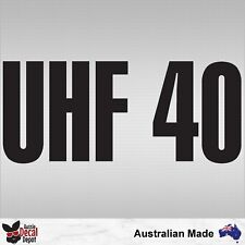 UHF 40 Caravan RV Motorhome Radio Channel decal sticker 200mm Choose Your Colour