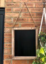 Rustic Brown Chalk Board Vintage Wooden Blackboard Shabby Message Memo Wedding