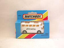"Matchbox Superfast MB65 Bus Aéroport  Airport Coach ""Alitalia"" neuf/boite (#A25)"