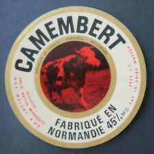Etiquette fromage CAMEMBERT  NORMANDIE French cheese label 23