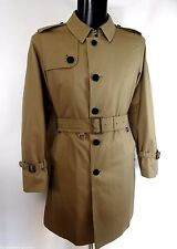 AQUASCUTUM SINGLE BREASTED Beige Trench Coat Size 44 BNWT UK Made