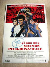 THE YEAR OF LIVING DANGEROUSLY Original Movie Poster MEL GIBSON SIGOURNEY WEAVER