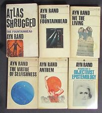 6 PRINCIPAL WORKS OF AYN RAND Fountainhead Atlas Shrugged Anthem We The Living