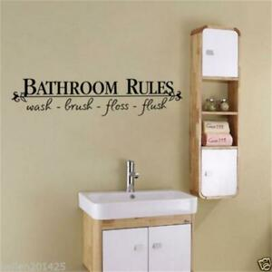 BATHROOM Wall Art Sticker Quote Removable Home Decor lettering words