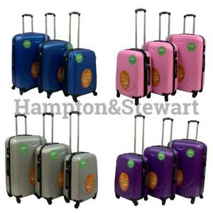 New ABS Hard Shell Suitcases 4 wheel Lightweight Strong Durable