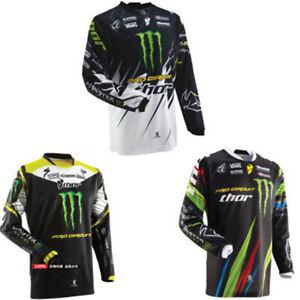 Mens Cycling Jersey MTB Riding Shirt Long Sleeve Motorcycle Top /MX/ATV/BMX Dirt