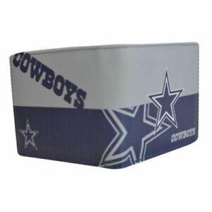 Dallas Cowboys NFL Men's Printed Logo Leather Bi-Fold Wallet Colorful Football