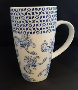 Whittard Blue and White Latte Mug Chocolate Celebrating Tea Coffee Since 1886