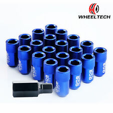 20 Wheel Lug Nuts 42mm Aluminum Blue fit M12X1.5 Studs Ford Focus Chevy Cruze