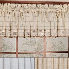 "Adirondack Cotton Kitchen Window Curtains - 12"" x 60"" Valance"