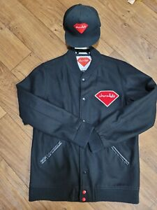 Diamond Supply Co. x CHOCOLATE BLACK Varsity Jacket WITH FREE HAT sz. LARGE